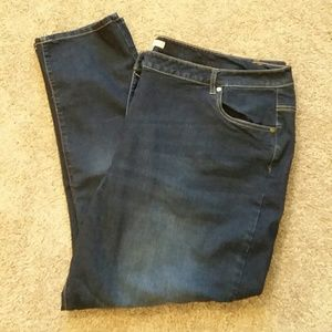 Woman Within 5 pocket straight leg jeans